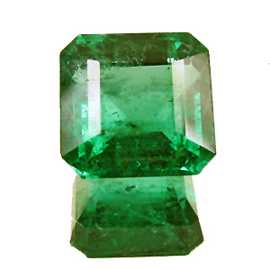 Emerald from Zambia. 2.1 Carat. Emerald Cut, distinct inclusions