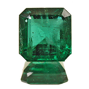 Emerald from Zambia. 2.42 Carat. Emerald Cut, distinct inclusions