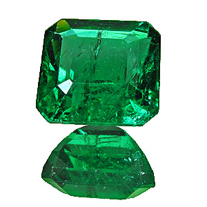 Emerald from Zambia. 2.67 Carat. Emerald Cut, distinct inclusions
