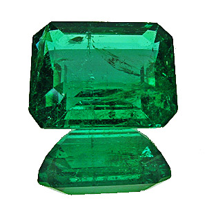 Emerald from Zambia. 3.3 Carat. Emerald Cut, distinct inclusions