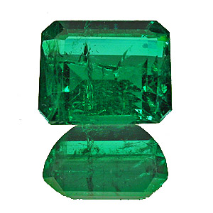 Emerald from Zambia. 3.41 Carat. Emerald Cut, distinct inclusions