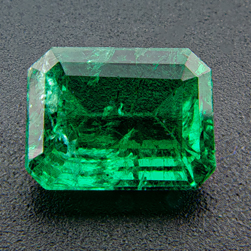 Emerald from Zambia. 0.92 Carat. Emerald Cut, small inclusions