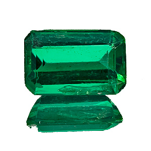 Emerald from Zambia. 1.8 Carat. to the naked eye this gem looks much cleaner than on the enlarged photo