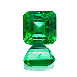 Emerald from Zambia. 1.28 Carat. Emerald Cut, small inclusions