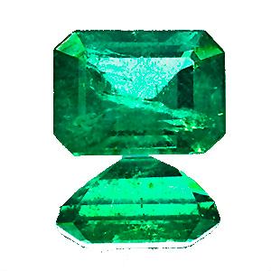 Emerald from Zambia. 1.35 Carat. Emerald Cut, distinct inclusions