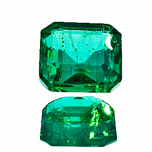 Emerald from Zambia. 1.55 Carat. Emerald Cut, small inclusions