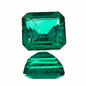 Emerald from Zambia. 1.68 Carat. Emerald Cut, small inclusions