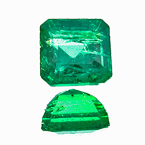 Emerald from Zambia. 1.87 Carat. Emerald Cut, small inclusions