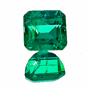 Emerald from Zambia. 2.05 Carat. Emerald Cut, distinct inclusions
