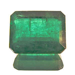 Emerald from Zambia. 2.09 Carat. Emerald Cut, very distinct inclusions