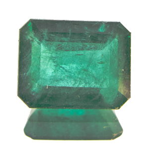 Emerald from Zambia. 2.14 Carat. Emerald Cut, very distinct inclusions