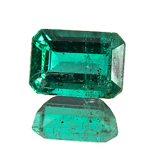 Emerald from Zambia. 1.85 Carat. good colour, cut and clarity