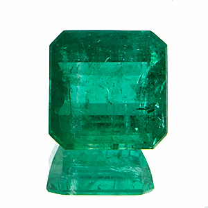 Emerald from Brazil. 1.81 Carat. Emerald Cut, very distinct inclusions
