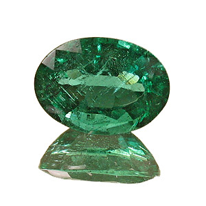 Emerald from Zambia. 1.43 Carat. Oval, small inclusions