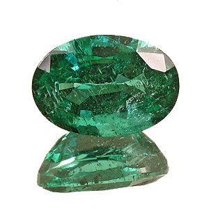 Emerald from Zambia. 1.53 Carat. Oval, small inclusions