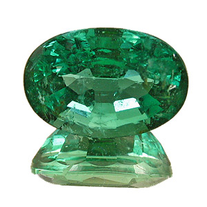 Emerald from Zambia. 2.69 Carat. Oval, small inclusions