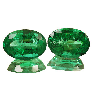 Emerald from Zambia. 4.36 Carat. Oval, distinct inclusions