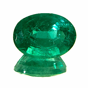 Emerald from Zambia. 2.07 Carat. Oval, distinct inclusions