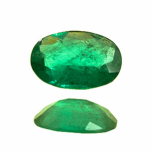 Emerald from Colombia. 0.41 Carat. Oval, very distinct inclusions