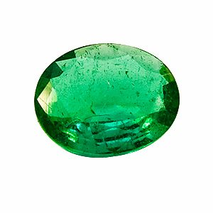 Emerald from Zambia. 0.48 Carat. very shallow pavilion, looks heavier than it is
