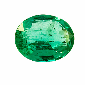 Emerald from Zambia. 1 Piece. Oval, small inclusions