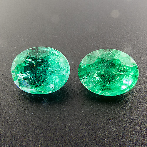 Emerald from Zambia. 6.39 Carat. Oval, distinct inclusions