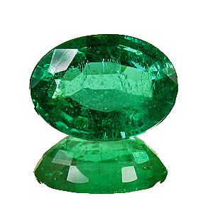 Emerald from Zambia. 1.22 Carat. Oval, small inclusions