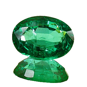 Emerald from Zambia. 1.27 Carat. Oval, small inclusions