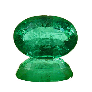 Emerald from Zambia. 1.37 Carat. Oval, small inclusions