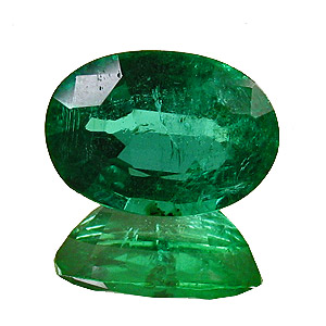 Emerald from Zambia. 1.46 Carat. Oval, small inclusions