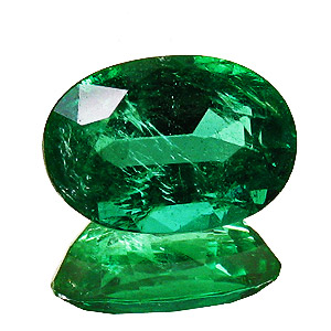 Emerald from Zambia. 1.54 Carat. Oval, small inclusions