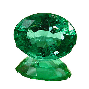 Emerald from Zambia. 1.58 Carat. Oval, small inclusions