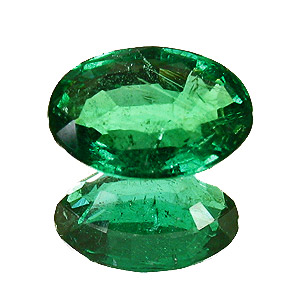 Emerald from Zambia. 1.61 Carat. Oval, small inclusions