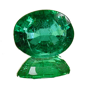 Emerald from Zambia. 1.62 Carat. Oval, small inclusions