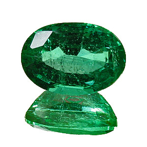 Emerald from Zambia. 1.63 Carat. Oval, small inclusions