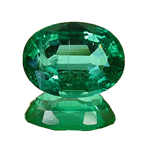 Emerald from Zambia. 1.72 Carat. Oval, small inclusions