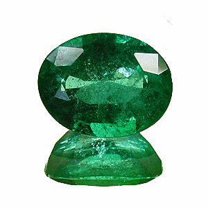 Emerald from Zambia. 1.85 Carat. Oval, small inclusions