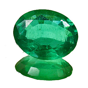 Emerald from Zambia. 2.01 Carat. Oval, small inclusions