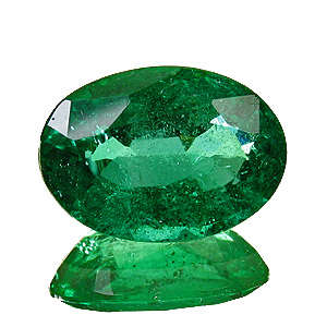 Emerald from Zambia. 2.04 Carat. Oval, small inclusions