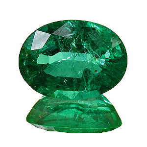 Emerald from Zambia. 2.07 Carat. Oval, small inclusions
