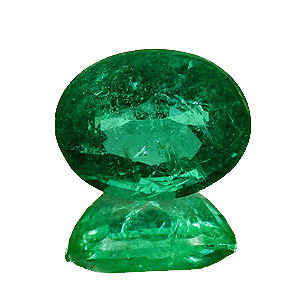 Emerald from Zambia. 2.18 Carat. Oval, small inclusions
