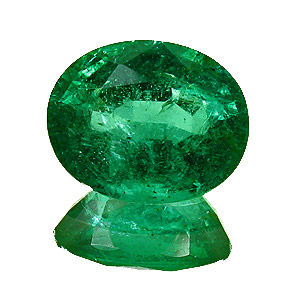 Emerald from Zambia. 2.27 Carat. Oval, small inclusions
