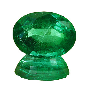 Emerald from Zambia. 2.89 Carat. Oval, small inclusions