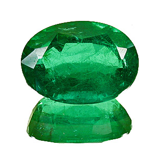 Emerald from Zambia. 3.79 Carat. Oval, small inclusions