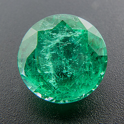 Emerald from Zambia. 1.62 Carat. Well-cut Emerald gem of unusual size. Good colour and clarity