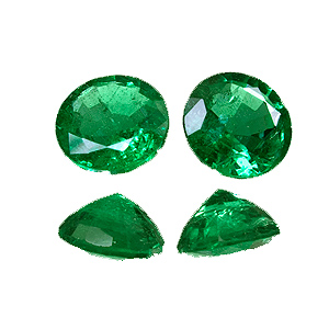 Emerald from Zambia. 0.99 Carat. Round, distinct inclusions