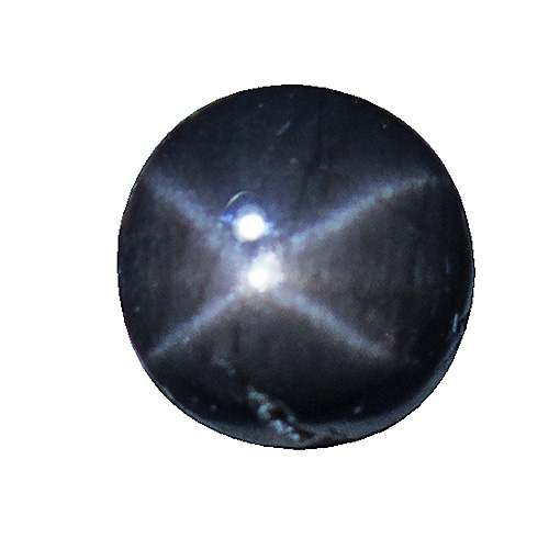Star Bronzite from India. 2.06 Carat. Cabochon Round, opaque