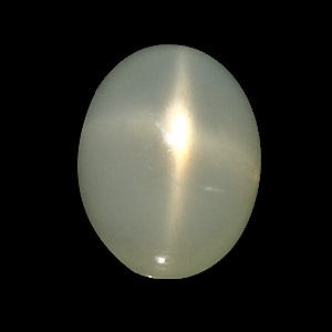 Star Moonstone from India. 17.67 Carat. Cabochon Oval, opaque