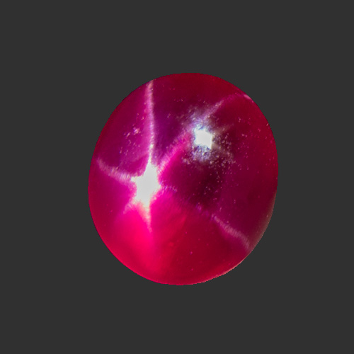 Star Ruby from Sri Lanka. 1.38 Carat. The star of this gem gem may not be perfect. Still, excellent colour and good clarity make it a rare beauty!