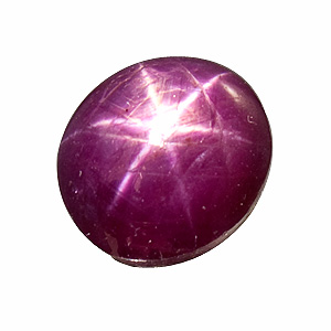 Star Ruby from India. 6.5 Carat. excellent star